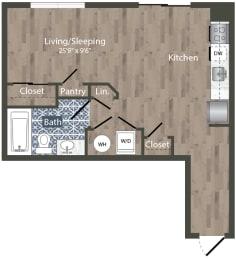 S2A Floor Plan at Park Kennedy, Washington, Washington