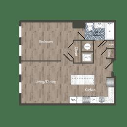 A7A Floor Plan at Park Kennedy, Washington