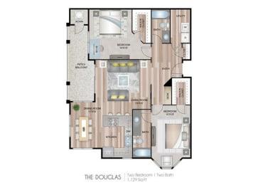 The Douglas two bedroom two bathroom