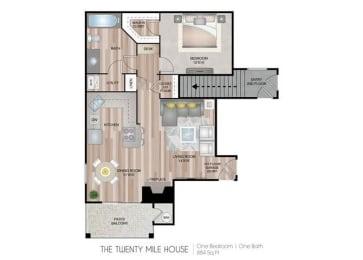 Twenty Mile House one bedroom one bathroom