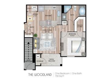 Woodland one bedroom one bathroom