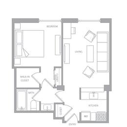 e10a Floor Plan at Nob Hill Tower, San Francisco, CA