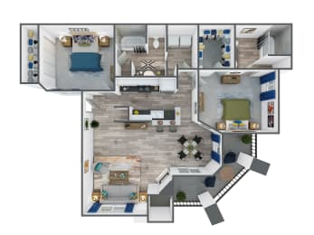 Two Bedroom, Two Bathroom at The Springs at Continental Ranch