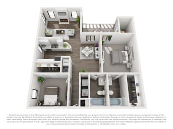 Floor Plan B20b 2 Bed 2 Bath