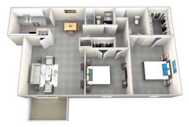 Nob Hill Apartments in Nashville - 2 Bedroom Floor Plan Apartment for Rent