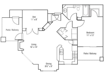 Conifer Floor Plan at The Bluffs at Highlands Ranch, Highlands Ranch