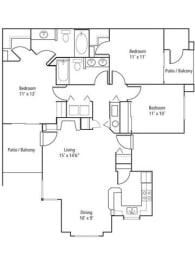 Larkspur Floor Plan at The Bluffs at Highlands Ranch, Colorado