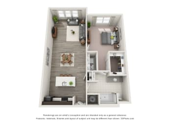 A1-S Floor Plan at Hudson at East, Orlando, FL, 32828