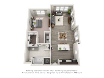 A1-SE Floor Plan at Hudson at East, Orlando, FL