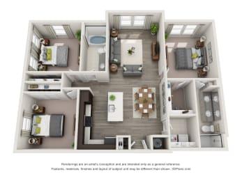 C1-S Floor Plan at Hudson at East, Florida