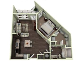 POLK Floor Plan at LaVie Southpark, Charlotte, 28209