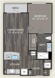 A1 Floor Plan at The Alden at Cedar Park, Cedar Park, 78613
