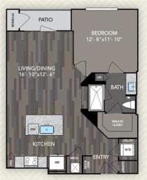 A2 Floor Plan at The Alden at Cedar Park, Cedar Park, Texas