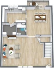 Floor Plan 3 Bedroom 2 1/2 Bath Townhome