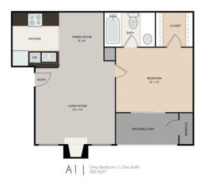 Floor Plan Small One Bedroom