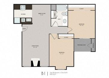 Floor Plan Small Two Bedroom