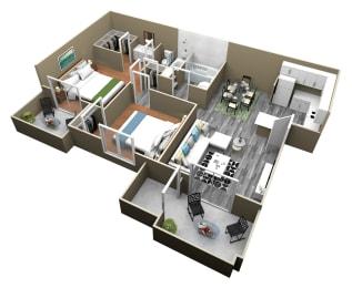 2 Bed 2 Bath Apartments at Citrus Gardens Apartments