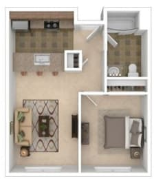 Floor Plan Tenth One Bed A-B
