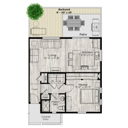 The Alcove Floor Plan at Avilla Buffalo Run, Commerce City, CO