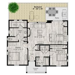 The Retreat Floor Plan at Avilla Buffalo Run, Colorado