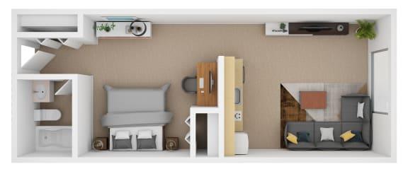 Floor Plan Studio Loft
