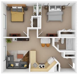 Floor Plan 2 Bedroom (D2)