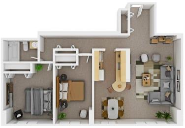 Floor Plan 2 Bedroom (Small)