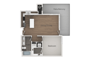 1x1B_2D at Lofts at 7800Apartments, Midvale, Utah