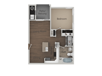 1X1 at Parc at Day Dairy Apartments & Townhomes, Draper, UT, 84020