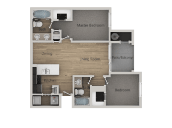 2 Bed_2 Bath at Parc on 5th Apartments & Townhomes, American Fork, UT, 84003