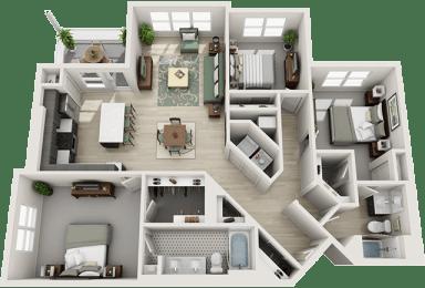 3Bed_2Bath at Parc View Apartments & Townhomes, Utah, 84047