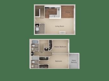 Floor Plan 2X2 Townhome