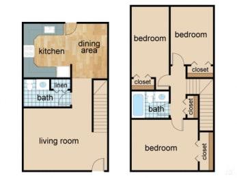 Floor Plan Three Bed Two Bath