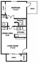 A2 floorplan, Villetta, Mesa, AZ