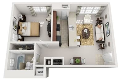 Floor Plan  Modern Apartments for Rent in National Landing Arlington VA