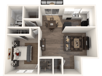 1X1G Floor Plan | Randolph Park