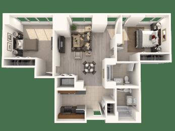 2B Floor Plan  Hartford 21