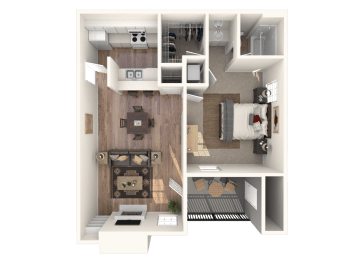Small 1x1 Floor Plan |Channing's Mark