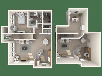 St Croix with Loft Floor Plan |Bay Harbor