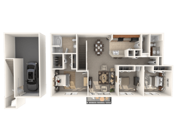 Steeplechase Floor Plan |Estates at Heathbrook