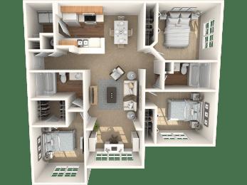 The Dogwood Floor Plan |Grandeville on Saxon