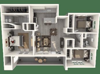 Three Bedroom Floor Plan | Pima Canyon