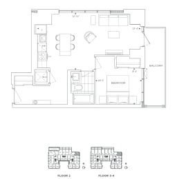 Floor Plan B1 - Bexley II