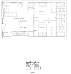 Floor Plan B2 - Bromley II