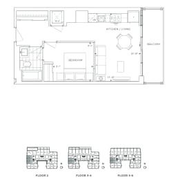 Floor Plan B1 - Greenwich IV