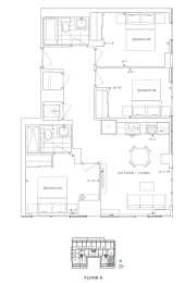 Floor Plan B3 - Hamlet III