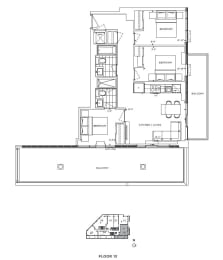 Floor Plan A3 - Hounslow IV