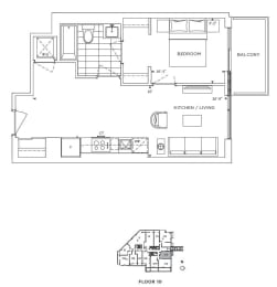 Floor Plan A1 - Lambeth IV