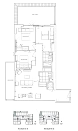 Floor Plan B3 - Waltham