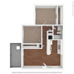 Floor Layout at Clayton Creek Apartments, California